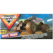 Monster Jam , Official Grave Digger Remote Control Monster Truck, 1:24 Scale, 2.4 GHz, for Ages 4 and Up