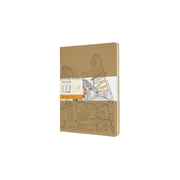 Moleskine Colouring Cover Cahier Notebook Kraft Brown Extra Large Ruled