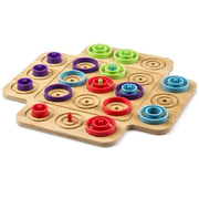 Marbles Otrio Strategy-Based Board Game, for Adults, Families, and Kids Ages 8 and up
