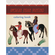 American Indian Paintings Colouring Book