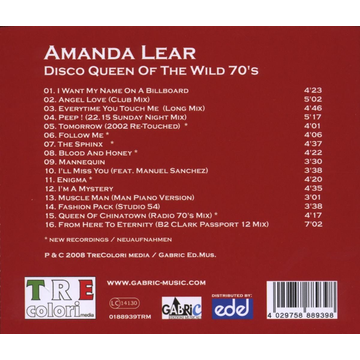 Lear,Amanda Disco Queen of the Wild 70s
