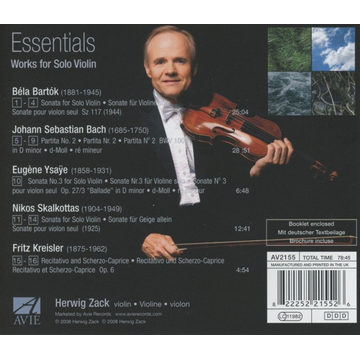 ZACK,HERWIG Essentials: Work for Solo Violin