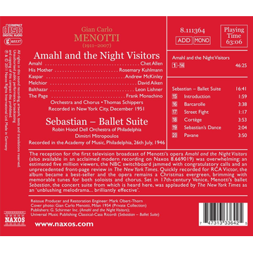 Mitropoulos Amahl And The Night Visitors