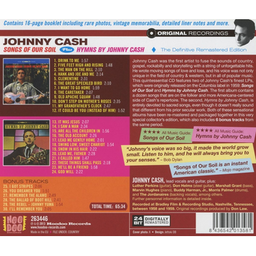 Cash,Johnny Songs Of Our Soil/Hymns By J.Cash