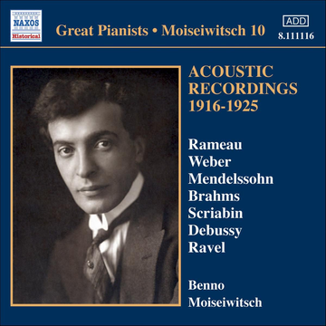 Moiseiwitsch,Benno Acoustic Recordings 1916-1925