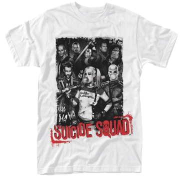 Suicide Squad Pose Red Text T-Shirt M