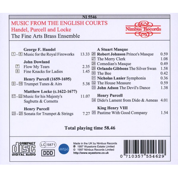 Fine Arts Brass Ensemble Music From The English Courts