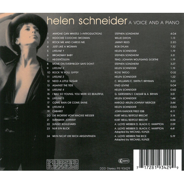 Schneider,Helen A Voice And A Piano