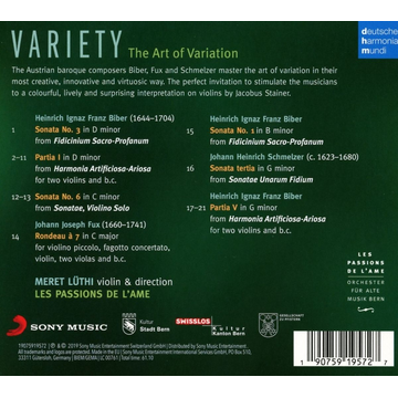 Passions de l'Ame,Les Variety-Variation in Music for Violin