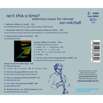 Mitchell,Ian Isn't This a Time? American Music for Clarinet