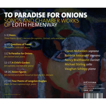 McFadden,Claron To Paradise for Onions: Songs and Chamber Works of Edith Hemenway