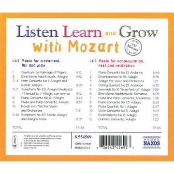 Various Listen,Learn And Grow With Mozart