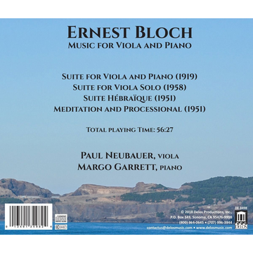 Neubauer,Paul Ernest Bloch: Music for Viola and Piano