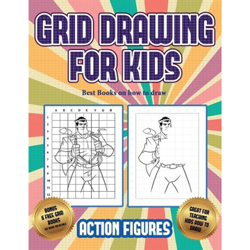 Manning, James Best Books on how to draw (Grid drawing for kids - Action Figures): This book teaches kids how to draw Action Figures using grids