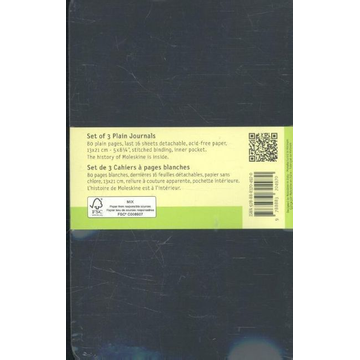 Moleskine Moleskine QP318 writing notebook 80 sheets Black