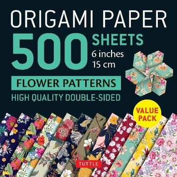 Origami Paper 500 Sheets Flower Patterns 6 (15 CM): Tuttle Origami Paper: High-Quality Double-Sided Origami Sheets Printed with 12 Different Patterns