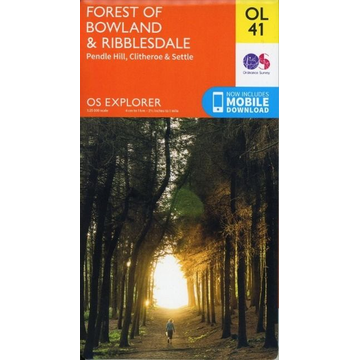 Ordnance Survey Forest of Bowland & Ribblesdale, Pendle Hill, Clitheroe & Settle