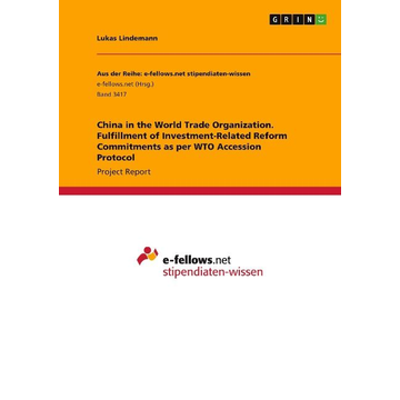 Lindemann, Lukas China in the World Trade Organization. Fulfillment of Investment-Related Reform Commitments as per WTO Accession Protocol