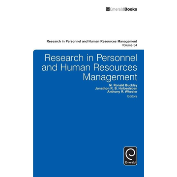 Emerald Group Publishing Limited Research in Personnel and Human Resources Management