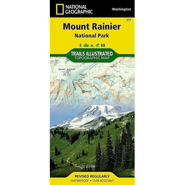 National Geographic Maps Mount Rainier National Park, WA - National Geographic Trails Illustrated National Parks