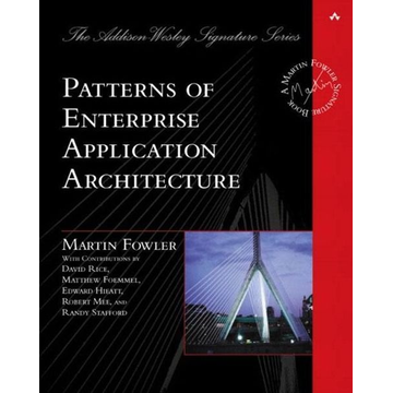 Fowler, Martin Pearson Education Patterns of Enterprise Application Architecture software manual English 533 pages
