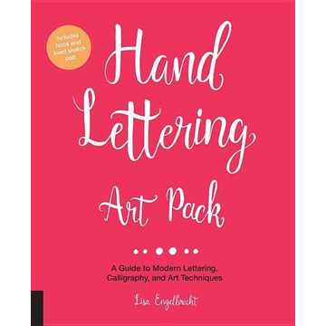 Engelbrecht, Lisa Hand Lettering Art Pack: A Guide to Modern Lettering, Calligraphy, and Art Techniques-Includes Book and Lined Sketch Pad