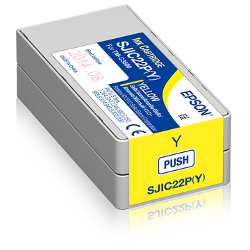 Epson Epson SJIC22P(Y): Ink cartridge for ColorWorks C3500 (yellow)