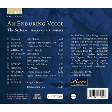 Christophers,Harry/The Sixteen Enduring Voice
