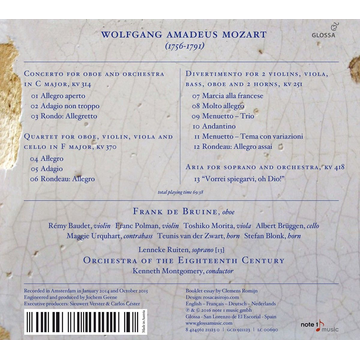 Mozart, Wolfgang Amadeus Wolfgang Amadeus Mozart: The Oboe Concerto; Other Works for Oboe