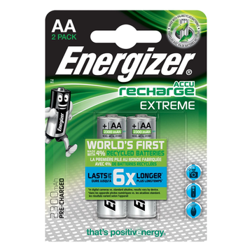 Energizer Energizer Accu Recharge Extreme 2300 AA BP2 Rechargeable battery Nickel-Metal Hydride (NiMH)