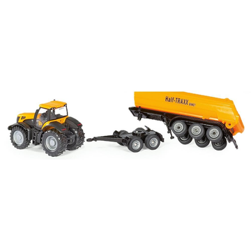 Siku Siku JCB Tractor with dolly and tipping trailer
