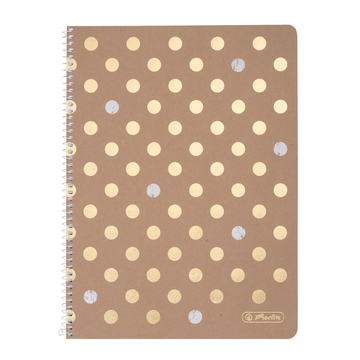 Herlitz Pure Glam writing notebook A4 80 sheets Gold