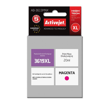 Activejet Activejet AB-3619MNX ink for Brother printer; Brother LC3619MXL replacement; Supreme; 20 ml; magenta