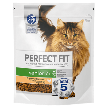 Perfect Fit Senior 7+ cats dry food 750 g Adult Chicken