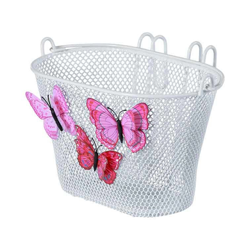 Basil Basil Jasmin Butterfly Front Bicycle basket Steel White