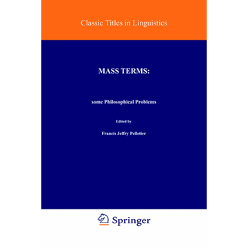 Springer Netherland Mass Terms: Some Philosophical Problems