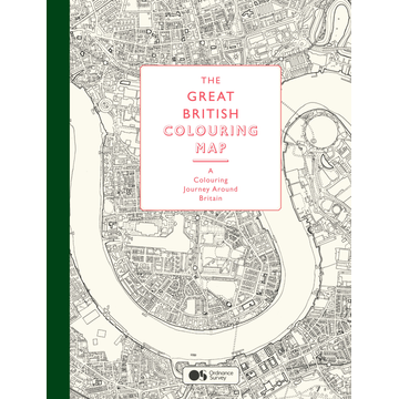 Ordnance Survey The Great British Colouring Map - A Coloring Journey around Britain