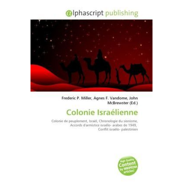 Alphascript Publishing Colonie Israélienne