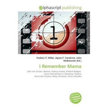 Alphascript Publishing I Remember Mama