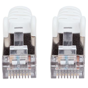 Intellinet Intellinet Network Patch Cable, Cat6, 1m, White, Copper, S/FTP, LSOH / LSZH, PVC, RJ45, Gold Plated Contacts, Snagless, Booted, Polybag