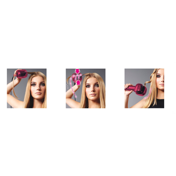 BaByliss C903PE hair styling tool Automatic curling iron Pink