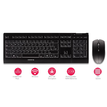 CHERRY B.UNLIMITED 3.0 Tastatur RF Wireless Deutsch Grau