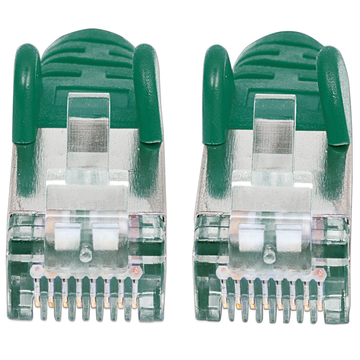Intellinet Intellinet Network Patch Cable, Cat6A, 0.5m, Green, Copper, S/FTP, LSOH / LSZH, PVC, RJ45, Gold Plated Contacts, Snagless, Booted, Lifetime Warranty, Polybag