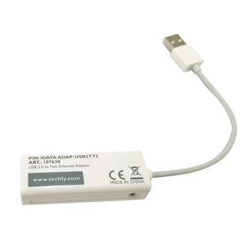 Techly USB2.0 to Fast Ethernet 10/100 Mbps converter