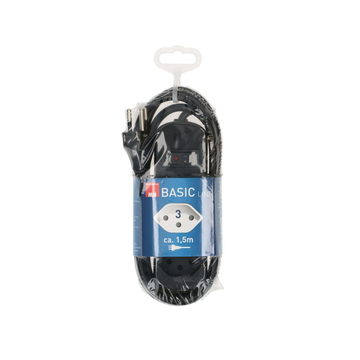 Max Hauri Max Hauri AG 160242 power extension 1.5 m 3 AC outlet(s) Indoor Black