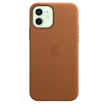 #Delete Apple iPhone 12 | 12 Pro Leather Case with MagSafe - Saddle Brown