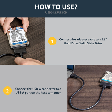 """StarTech.com USB 3.1 (10Gbps) Adapter Cable for 2.5"""" SATA Drives"""