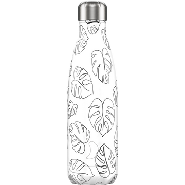 Chilly's Chilly's Line Art Leaves Daily usage 500 ml Stainless steel Black, White