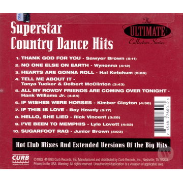 Various Artists Superstar Country Dance Hits