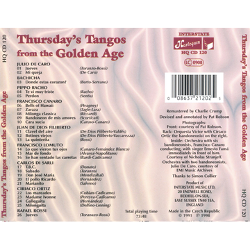 Various Artists Thursday's Tangos from the Golden Age